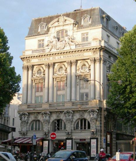 Sculptures paris porte saint martin - Theatre porte saint martin ...