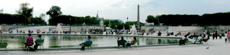 Jardin des tuileries autour du grand bassin octogonal - Grand bassin de jardin ...
