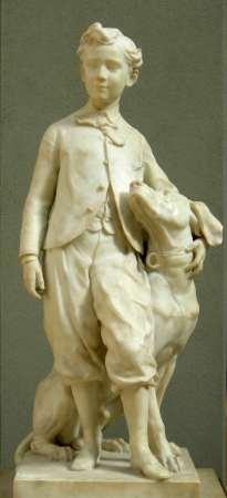 Jean-Baptiste Carpeaux : Le prince impérial et son chien Néro