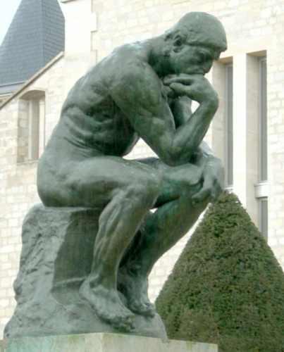 rodin femme nue au long cheveux citation sur homme nu